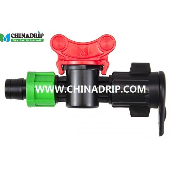 drip tape offtake valve from lay flat hose